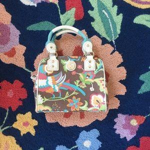 [Spartina] woven 2 handle crossbody satchel